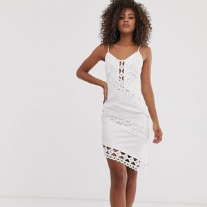 Missguided Tall Lace Mini Dress in White